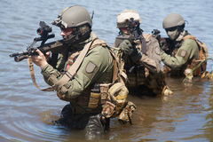Special forces in the water Stock Photography