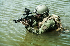 Special forces in the water Royalty Free Stock Image