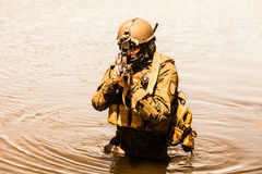 Special forces in the water Royalty Free Stock Photos