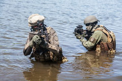 Special forces in the water Royalty Free Stock Photography