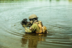 Special forces in the water Stock Images