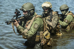 Special forces in the water Royalty Free Stock Photo