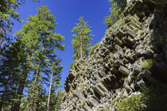 Special Geology in Devils Postpile National Monument royalty free stock photo