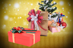 Special gift in Christmas day. Royalty Free Stock Images