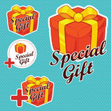 Special Gift Stickers Royalty Free Stock Photos