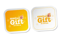Special Gift Stickers Royalty Free Stock Photo