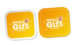Special Gift Stickers Stock Images