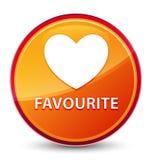 Special glas- orange rund knapp för gunstling (hjärtasymbol) royaltyfri illustrationer