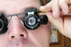 Special glasses Microscopes Royalty Free Stock Images