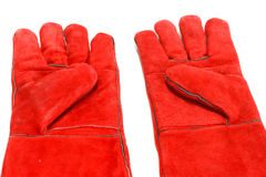 Special gloves. For working in conditions of high temperatures Stock Images