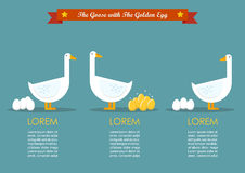 Special goose different through a group of ordinary goose infogr Royalty Free Stock Photography