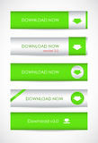 Website download buttons Royalty Free Stock Photography