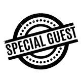 Special Guest rubber stamp. Grunge design with dust scratches. Effects can be easily removed for a clean, crisp look. Color is easily changed Royalty Free Stock Images