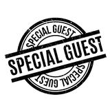 Special Guest rubber stamp. Grunge design with dust scratches. Effects can be easily removed for a clean, crisp look. Color is easily changed Royalty Free Stock Image