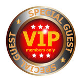 Special guest VIP badge. Illustration of a special guest VIP badge isolated on a white background Stock Photos