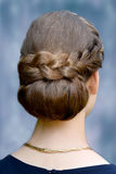 Special hairstyle, braided hair Royalty Free Stock Photos