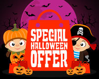 Special Halloween offer design background. Vector illustration royalty free stock image