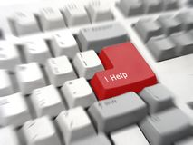 Special help keyboard Stock Images