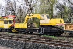 Special järnväg vagn Royaltyfria Foton