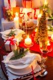 Special jul som ställer in tabellen Fotografering för Bildbyråer