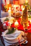 Special jul som ställer in tabellen Royaltyfria Bilder