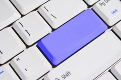 Special Keyboard – Blue Blank Enter Key Stock Photos