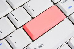 Special Keyboard – Red Blank Enter Key. Keyboard With Special Red Blank Enter Key Stock Image
