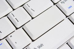 Special Keyboard – Blank Enter Key Royalty Free Stock Photos
