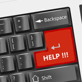 Special keyboard - Help. Special Black keyboard - help button Stock Image