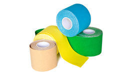 Special kinesio tape rolling Stock Image