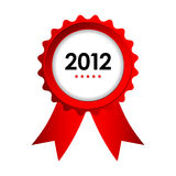 Special label. With red ribbons - best of 2012 sign stock illustration