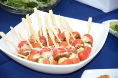 A consistent appetizer. A special, light and consistent appetizer for a special figure royalty free stock photo