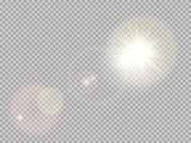 Special linssignalljus för solljus 10 eps stock illustrationer
