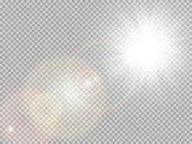 Special linssignalljus för solljus 10 eps vektor illustrationer