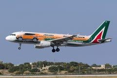 Special livré Alitalia A320 Arkivfoton