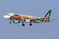 Special livré Alitalia A320 Arkivbilder