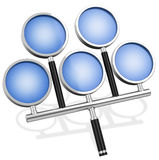 The special magnifying glass Stock Photo