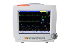 Special medical equipment patient electrocardiographic monitoring royalty free stock photography
