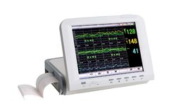 Special medical equipment patient electrocardiographic monitoring royalty free stock photos