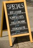 Special menu. Stock Photos