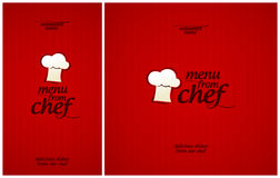 Special Menu from Chef. Royalty Free Stock Image