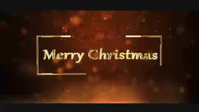 Merry Christmas clip for wishing your family vector illustration