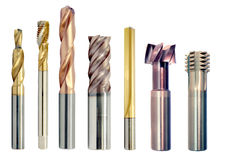 Special metal tools, drills Royalty Free Stock Image
