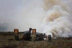 Special militär utrustning för rök royaltyfri foto