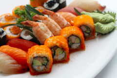 Special Mix Sushi Plate Royalty Free Stock Image