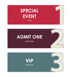 Special modern ticket template Stock Image