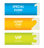 Special modern ticket template Stock Images