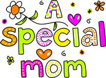 A special mom royalty free illustration