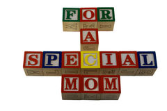 For a special mothers day in alpabet blocks Royalty Free Stock Photography