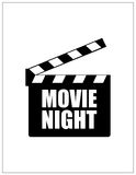 Special movie night banner Royalty Free Stock Image